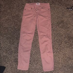 PAIGE Jeans - Pale pink skinny jeans.